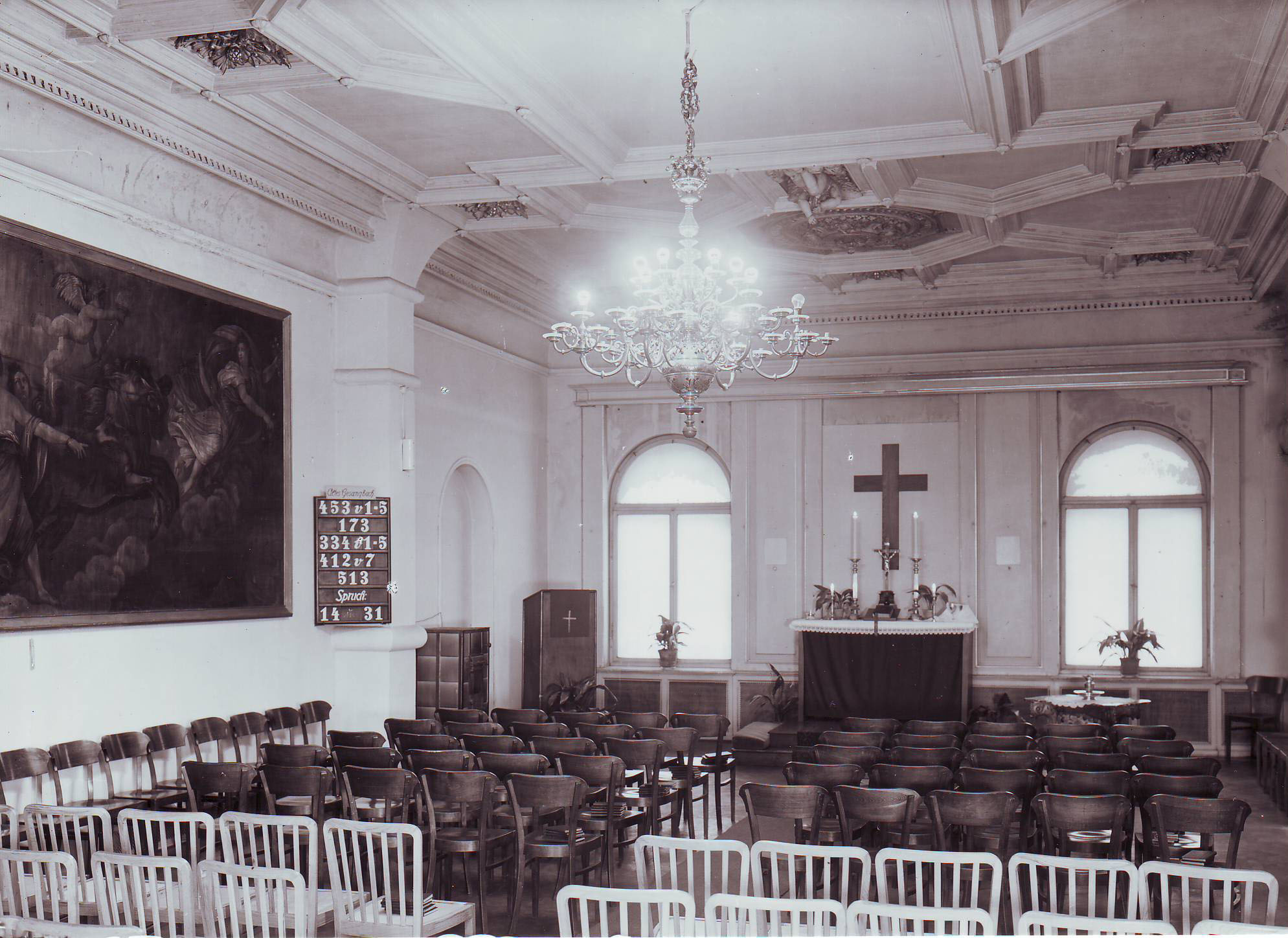 Schloss Prohlis Raum für Gottestienste um 1950
