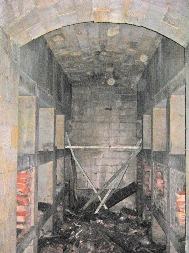 Gruft nach der Öffnung 2006