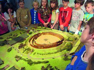 Modell der Kreisgrabenanlage