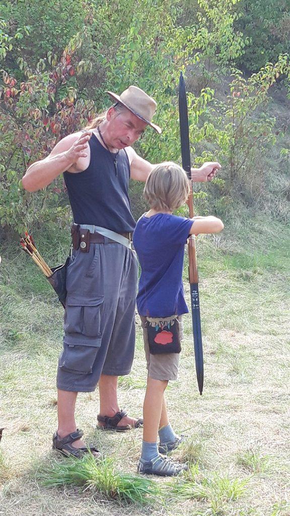 Jagen mit Pfeil und Bogen