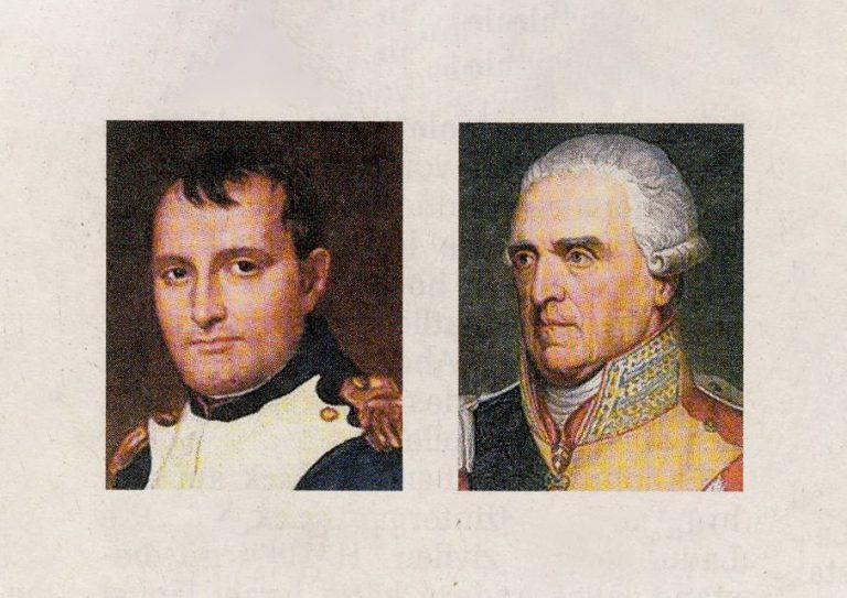 Kaiser Napoleon I. und Friedrich August I